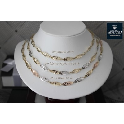 Collier style grecque or 10 k